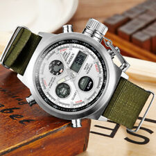 OHSEN Men's Tactical Military Army Nylon Stopwatch Sport Quartz Wrist Watch