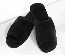 MENS BLACK TOWELLING SLIP ON MULE SLIPPERS IN SIZE 9-10 UK BNIP