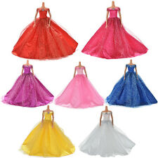 Wedding Dress for Barbies Doll Beautiful Trailing Skirt Wedding Dress FT