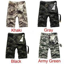 Men Army Cargo Combat Camo Summer Camouflage Overall Shorts Sports Pants X8G7