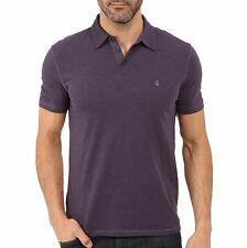 John Varvatos Star USA Men's Short Sleeve Peace Sign Polo Shirt Purple NWT