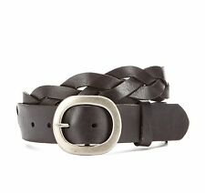 John Varvatos Star USA Men's Belt Braided Black Leather 4410131 $85 msrp NWT