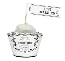"NEW ITEM - ""JUST MARRIED"" WEDDING CUPCAKE PICKS 4 STYLES!"