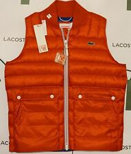 Lacoste Live Men's Orange Yucca Gilet /Jacket  BH5925-00 NEW RRP £165 **SIZE 50*