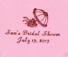 SHOWER UMBRELLA LOGO 50 Personalized printed LUNCHEON DINNER napkins