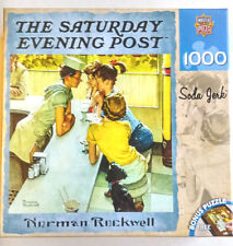 """Masterpieces Norman Rockwell """"Soda Jerk""""  1000 Piece Puzzle 25"""" x 25"""" NEW/SEALED"""