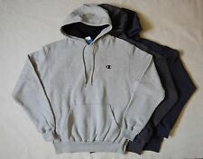 NEW Champion ECO Pullover Hooded Mens Gray Navy Sweatshirt Hoodie S M XL
