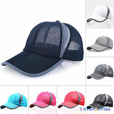 Unisex Golf Baseball Mesh Cap Sport Curved Summer Sun Visor Hat Adjustable Cap