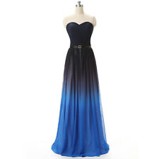 Women's Strapless Evening Dresses Prom Party Dress Formal Gowns Gradient Ramp