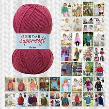 SIRDAR SUPERSOFT ARAN KNITTING PATTERN PATTERNS - DISCONTINUED COLLECTION