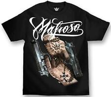 Mafioso Saints Pray Pistol Gun Smoke Hand God Hip Hop Urban Tattoo T Shirt S-4Xl