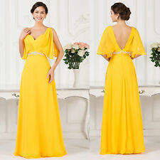 Plus Size Vintage 50s Wedding Guest Long Chiffon Evening Prom Party Formal Dress