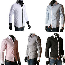 New fashion Mens Luxury Stylish Cotton Long Sleeve Casual Dress  Shirts Tops