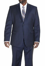 Donald Trump Classic Fit Navy Blue Pinstriped Two Button Wool Suit