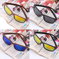 Mens Fashion Sports Sunglasses Wooden Square Frame Shades Outdoor Eyewear PY