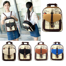 Fashion Womens Korean PU Leather Travel Handbag Schoolbag Backpack Shoulder Bag