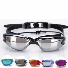 Adult Swimming Swim Goggles Glasses Anti-fog Waterproof UV Protection w/ Earbuds