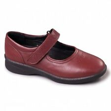 Padders SPRITE 2 Ladies Embroidered Extra Wide Plus Fit Velcro Shoes Cherry Red