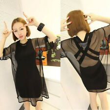 Fashion Short Sleeve Sexy Through See Mesh Women Hot Sheer Tee Shirt Blouse Tops