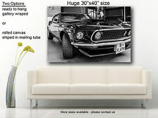 """Muscle car canvas print Ford Mustang Boss 429 Fastback (1969) Huge 30""""x40"""""""