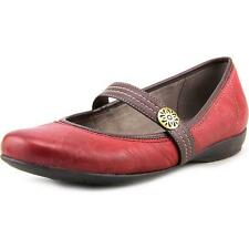 Naturalizer Garrison Women W Round Toe Leather Red Mary Janes