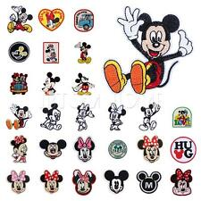 Cartoon Mickey Minnie Mouse Motif Patch Iron Sew Cloth DIY Embroidered Applique