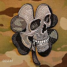PIRATE SKULL CLOVER PATCH TACTICAL US ARMY MORALE MILSPEC PATCH