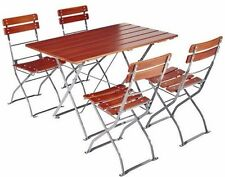 Outdoor Bistro Set Beer Garden Tables Chairs Folding European Quality