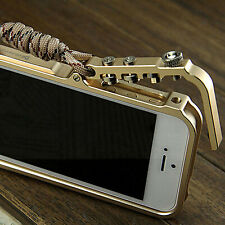 For IPhone6&6 Plus Aluminum Metal Button Hard Cleave Frame Bumper Case Cover