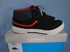 CARTER'S  BOYS TODDLER ATHLETIC SHOES,SNEAKERS, BLACK/RED, NWB YOU PICK SIZE
