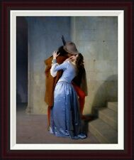Global Gallery The Kiss by Francesco Hayez Framed Painting Print