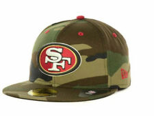 Official San Francisco 49ers New Era NFL Camo Pop 59FIFTY Hat Fitted Cap