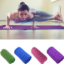 New Non Slip Yoga Mat Cover Towel Blanket Sport Fitness Exercise Pilates Workout