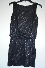 New Guess Women's Black Sequin Sleeveless Dress Sz S