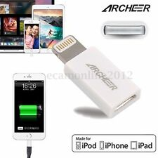 New Mini MFi Certified Genuine Archeer Micro USB to 8 pin Sync Charger Adapter