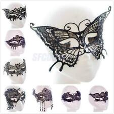 Black Lace Venetian Mask Masquerade Halloween Ball Prom Party Eyewear Accessory