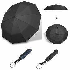 "Auto Open and Close Folding Rain 41"" Umbrella Portable Compact Outdoor Travel"