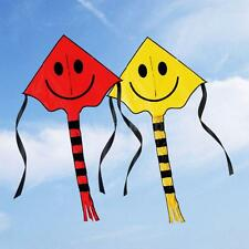 Cute Smiley Face Kite Easy to Fly Single Line Fun Childrens Kids Toy Colors X7C3