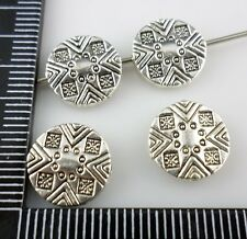 28/220pcs Tibetan Silver Crafts Oblate Spacer Beads 11mm  (Lead-free)