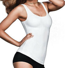 NEW Womens Sz S FLEXEES Tailored Tank WHITE Firm Control Shapewear Top Cami