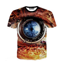 New Fashion Women/Mens Mechanical Eye 3D Print Casual T-Shirt Plus Size