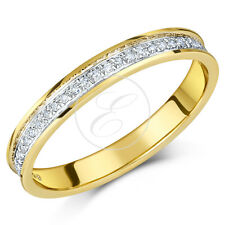 9ct Yellow Gold Diamond Half Eternity Ring 0.15ct Diamond Ring Solid &Hallmarked