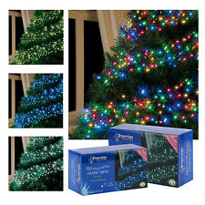 Premier Decorations Indoor Outdoor Multi-Action Bright LED Christmas Xmas Lights