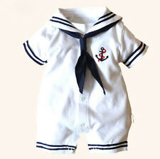Newborn Baby Boys Girls Sailor  Romper  Costume  Bodysuit  Outfits