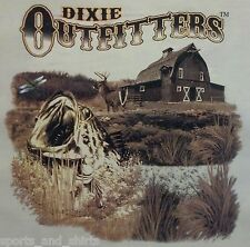 DIXIE OUTFITTERS BASS FISHING DEER HUNTERS HOODED SWEATSHIRT #6852 HOODIE