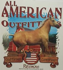 ALL AMERICAN OUTFITTERS PALOMINO HORSE WESTERN COWGIRL RODEO SHIRT #2195