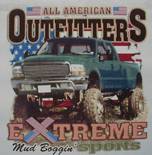 ALL AMERICAN OUTFITTERS EXTREME MUD BOGGIN 4X4 TRUCK SHIRT #329