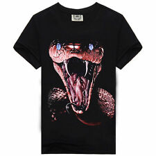 2016 New Fashion Women/Mens Cobra Snake Funny 3D Print Casual T-Shirt Plus Size
