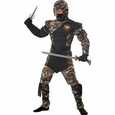 Childrens Special Ops Ninja Karate Military Army Halloween Costume S-L 00326