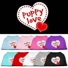 PUPPY LOVE Dog Shirt * Valentines Day Heart Puppy Pet Tee T-Shirt Apparel